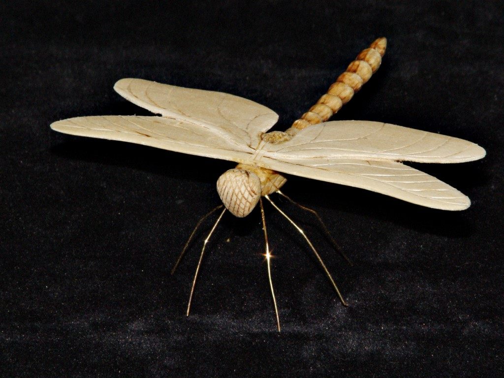 handcarved basswood dragonfly