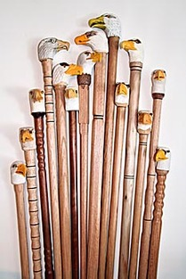 hand carved canes for veterans eagle head cane project