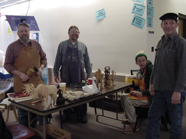 Woodcarving demo at Havenwoods state park
