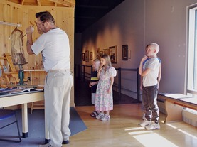Woodcarving demo at Kenosha Museum