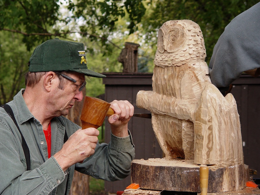 Barred Owl chainsaw Carving