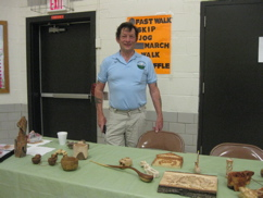 Woodcarving demo at a Kenosha grade school